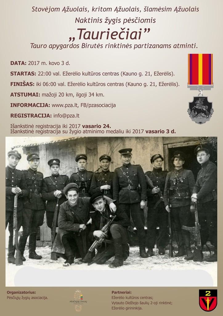 Tauriečiai plakatas 2017.03.03