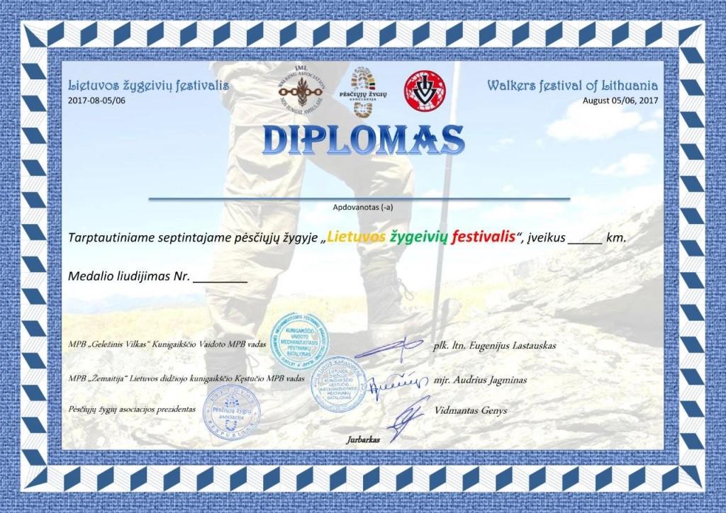 Diplomas, Medalio Liudijimas