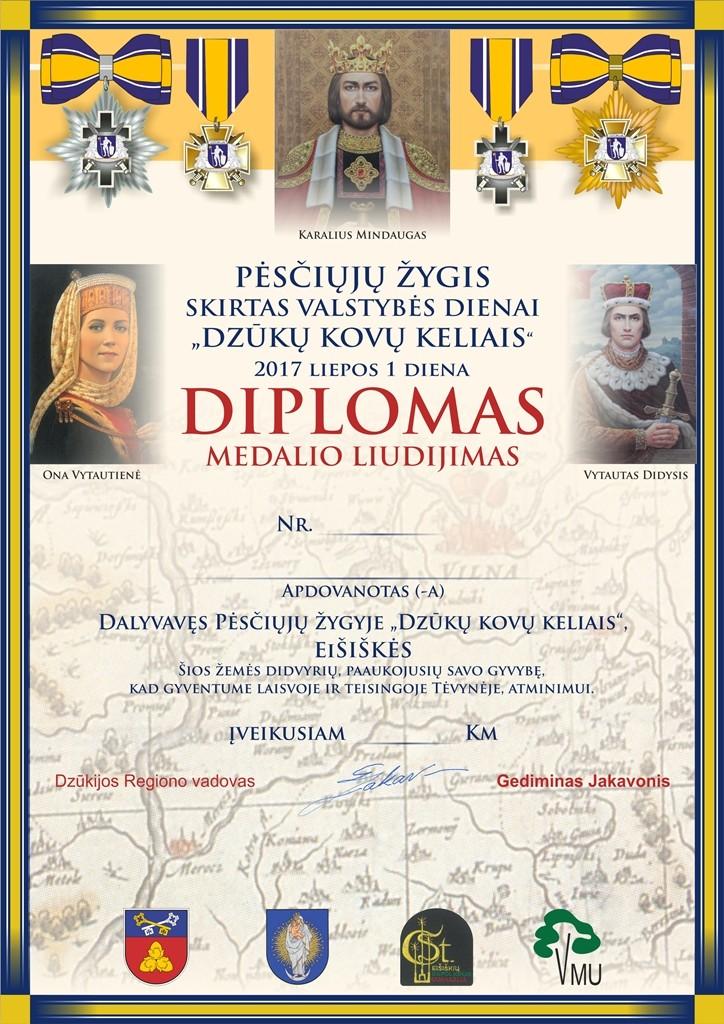 Pesciuju zygis Diplomas 2017