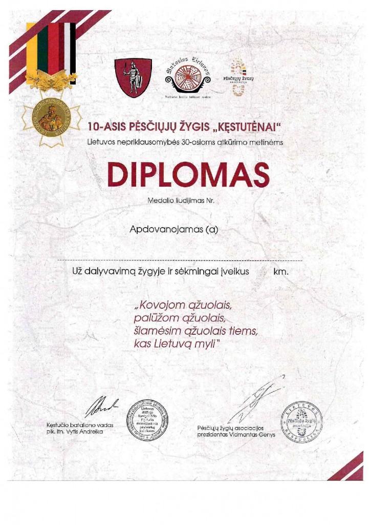 Kęstutėnai 2020 Diplomas