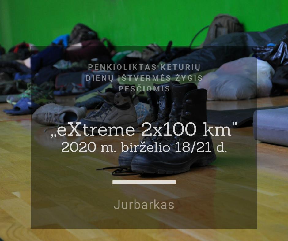 eXtreme 2x100, 2020.05.1821 Plakatas